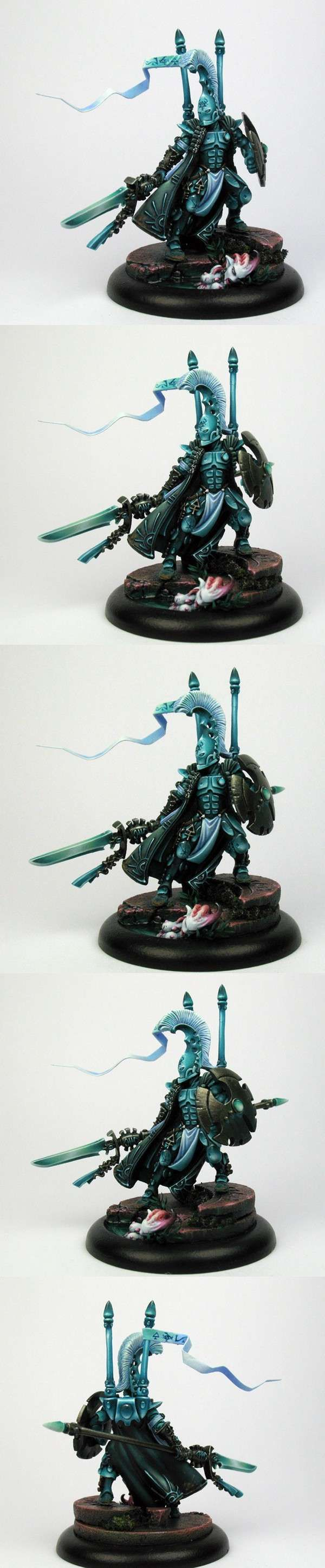 Warhammer 40k Eldar Autarch, custom posed, very dynamic lighting and very thorough, subtle shading