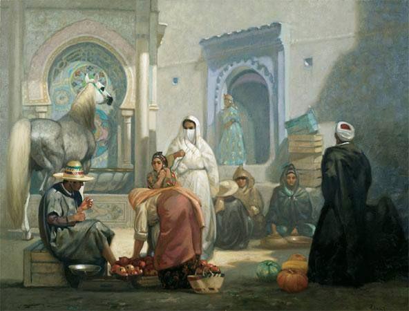الأصالة الجزائرية ,اللوحة للفنان المبدع حسين زياني