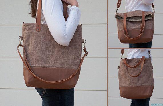FREE SHIPPINGLight Brown Handbag Genuine Leather Straps by buboxa