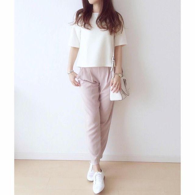 pink beige pants