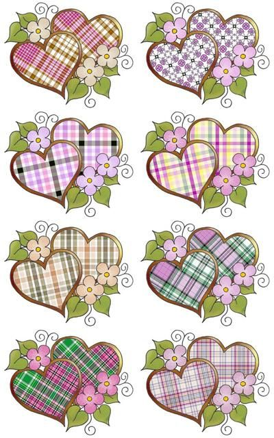 Digital collage sheets with plaid