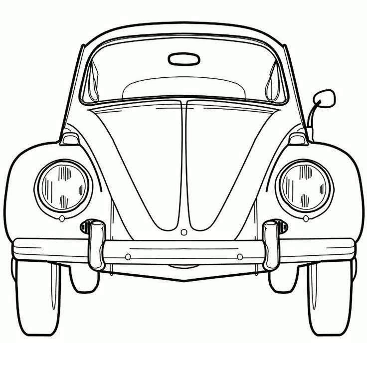 Coloriage Coccinelle VW                                                                                                                                                     Plus