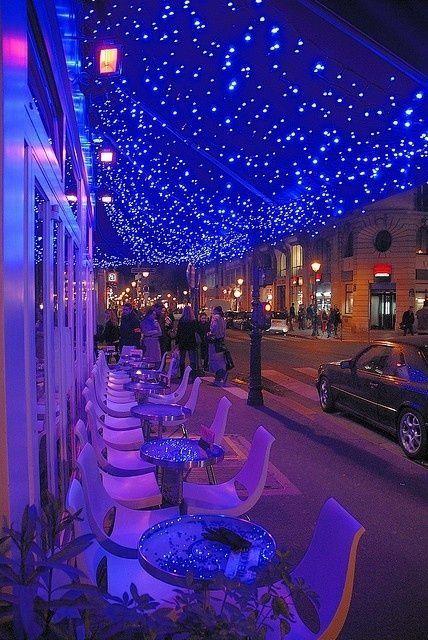 Illumination in Cafe Le Marais, Paris