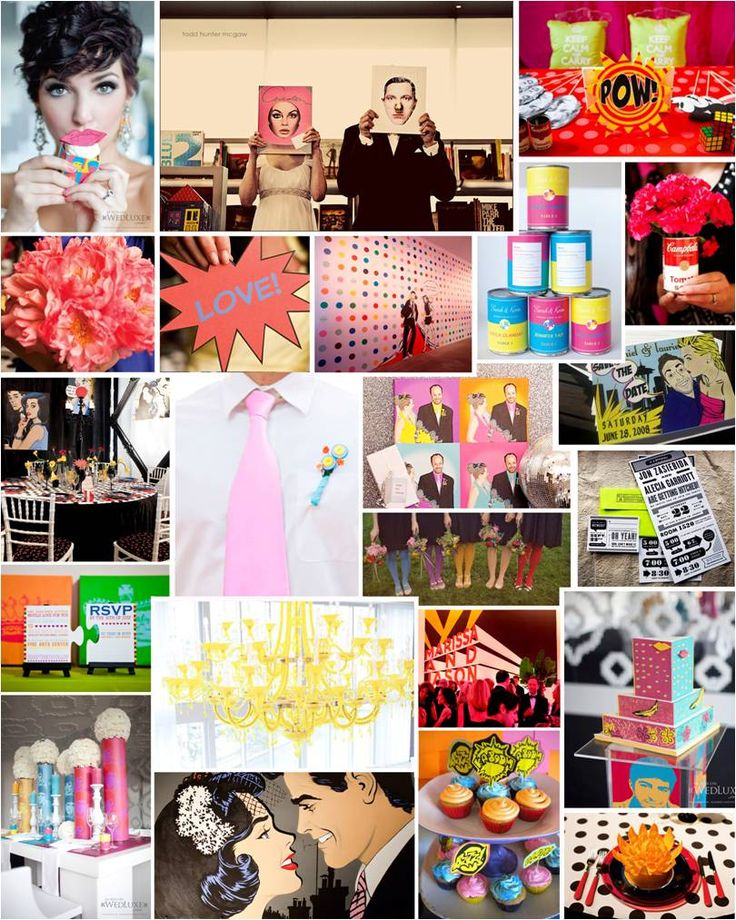 Wedding theme for reception at Andy Warhol Museum! Pop art wedding