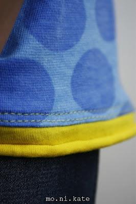 'Rollbündchen' / abgesetzte Bündchen mit Single Jersey