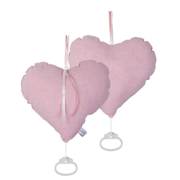 Spieluhr Herz rosa