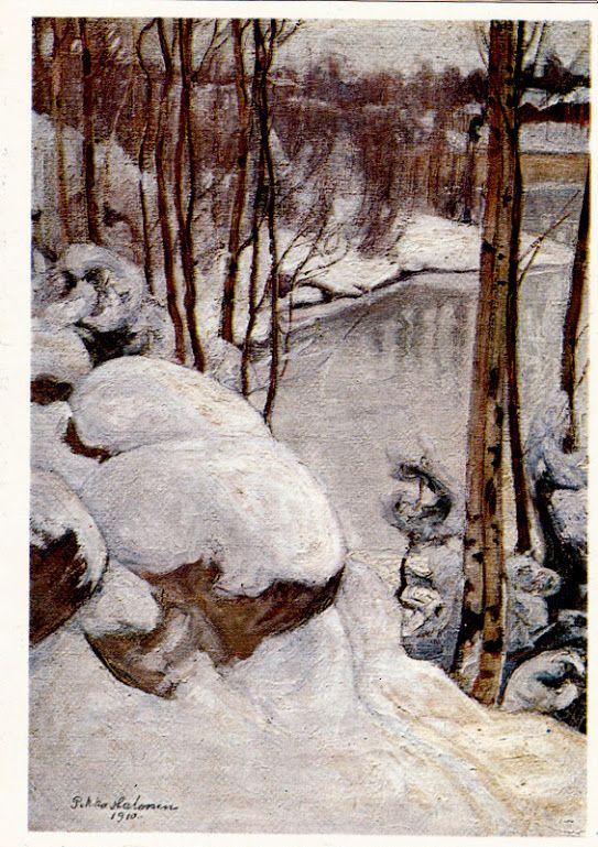 Kuva albumissa PEKKA HALONEN - Google Kuvat. Talvipäivä 1910. Kerava 1978.  Kuva: Toivo Lumme, tk.