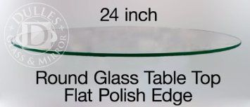 """Amazon.com: Glass Table Top: 24"""" Round, 1/4"""" Thick, Flat Polish Edge, Tempered Glass: Home & Kitchen"""