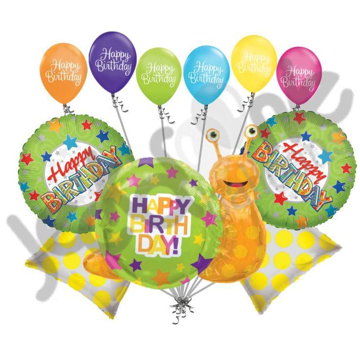 Happy Birthday Snail Balloon Bouquet
