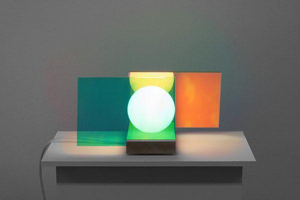 Luminaire AO par Jean-Charles Amey pour l'exposition Objet Lumière