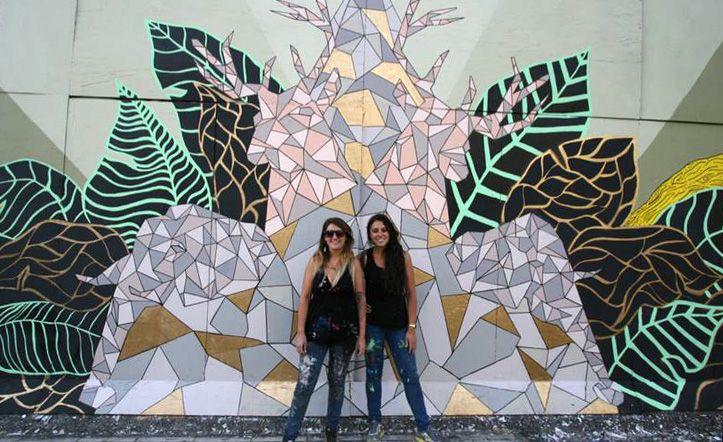 TRINI GUZMAN Y CONI LARENAS   Artistas e ilustradoras de la Universidad Finis Terrae, Santiago, Chile.  #arte #art #ilustracion #illustration #mural #painting #chile #santiago #colors #organic  TWITTER: @estanpintando INSTAGRAM: estanpintando