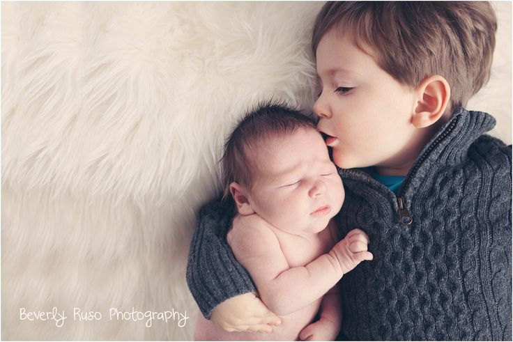 Newborn Photography by Beverly Ruso Photography. New baby brother. Brothers. Two brothers.