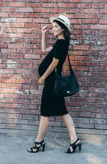 $88 | LBD Perfect staple maternity dress | Nom Maternity 'Hailey' Maternity Dress | maternity fashion | maternity dress | maternity wardrobe | maternity clothes | maternity outfit | pregnancy | bump | #ad