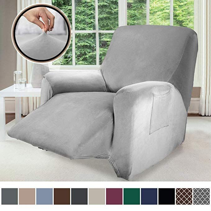 Gorilla Grip Original Velvet Fitted 1 Piece Recliner Slipcover Stretch Up To 28 Inches Soft Velvety Covers Luxur Slipcovers Luxury Chairs Recliner Slipcover