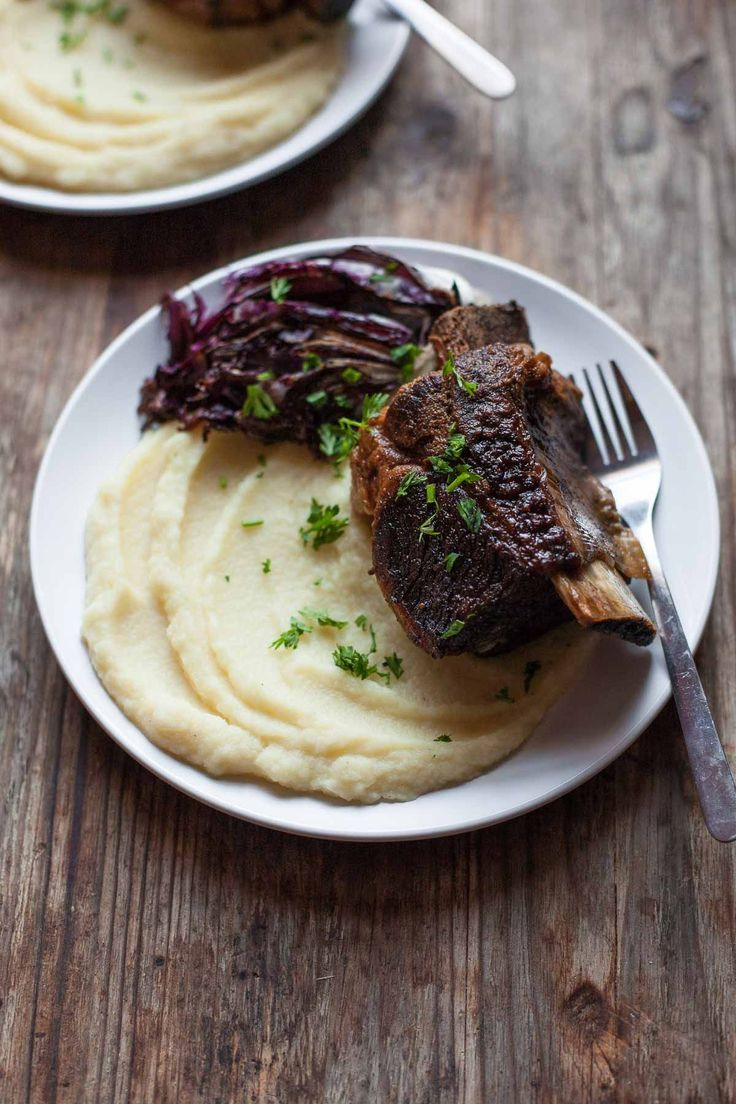 50+ Whole30 Slow Cooker Dinner Recipes - Balsamic Short Ribs | Plaid & Paleo