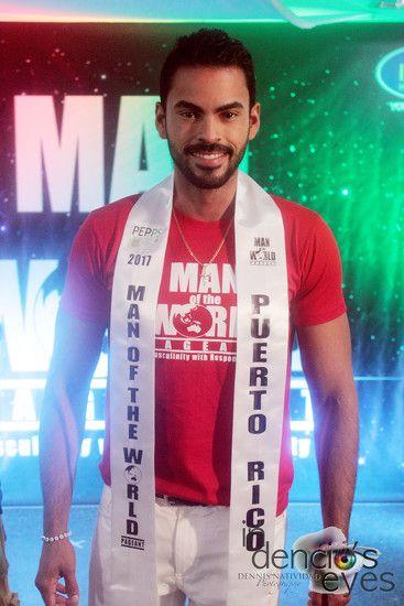 Man of the World Puerto Rico 2017, Enrique Antonio Santana Perez.