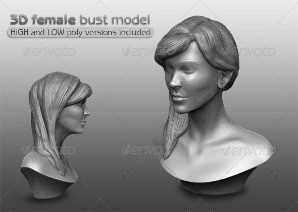 3D Female Bust Model