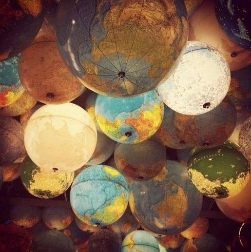 WONDERLUST LIGHTING | Light globes to inspire the well-traveled and globetrotters. Bring the world to your home.