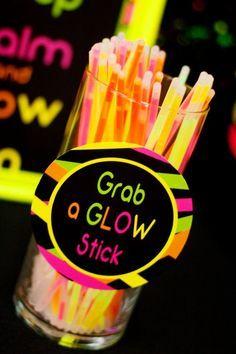 Neon Birthday Party Ideas for Kids Glow Sticks