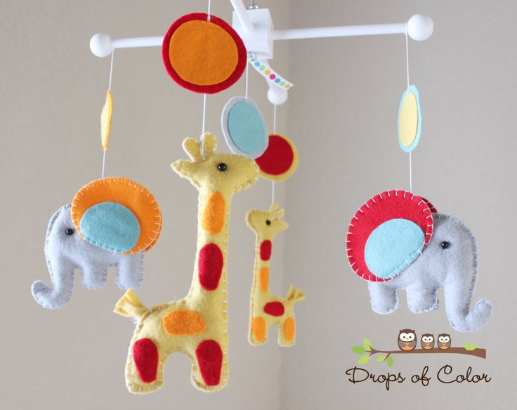 "Baby Mobile - Baby Crib Mobile - Nursery Elephant Giraffe Mobile - Safari Mobile ""Baby Giraffes & Elephants"" (You can pick your colors) by dropsofcolorshop on Etsy https://www.etsy.com/listing/98253793/baby-mobile-baby-crib-mobile-nursery"