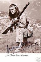 Pierre Brice - Gedruckte Autogramme auf s/w Rüdel-Karte   eBay