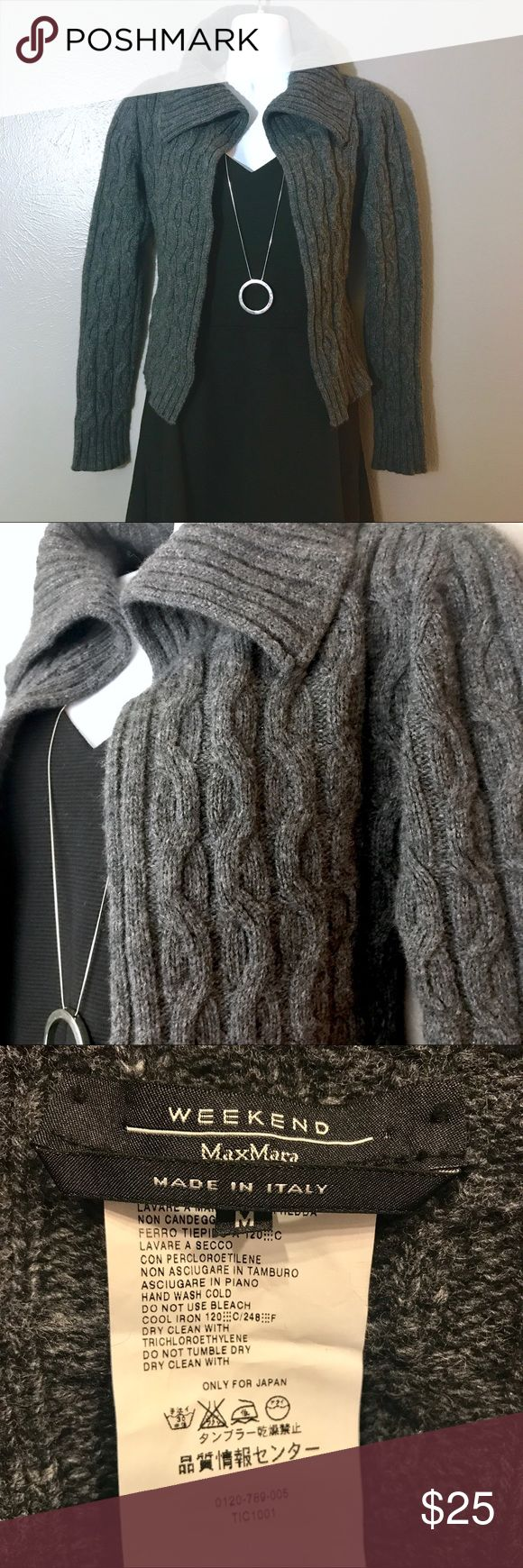 👍Max Mara Weekend Open Front Cardigan👍 EUC - Max Mara Weekend - Open Front Cardigan - Cashmere, Wool, Angora, Nylon Blend (see tag image for ratios) - SO soft! SZ Medium Max Mara Sweaters Cardigans