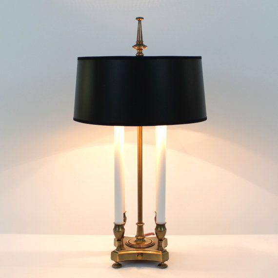 Stiffel Brass Bouillotte Lamp . French Empire . by ...