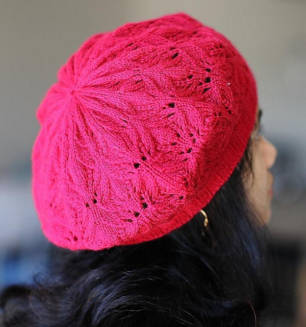 Leaf Beret Knitting Pattern : 19 best images about Knitting: Lace Berets on Pinterest