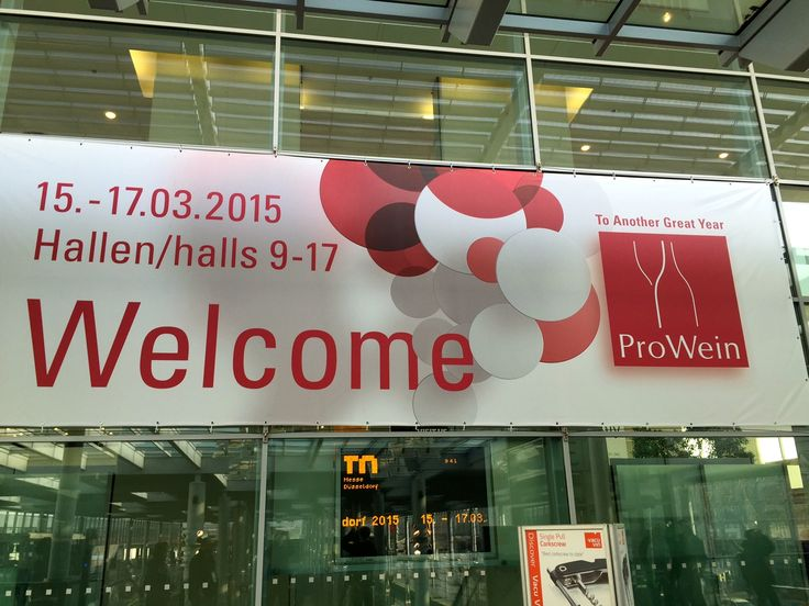 We just finished a whirlwind tasting at #ProWein2015, the international wine trade fair in Dusseldorf.