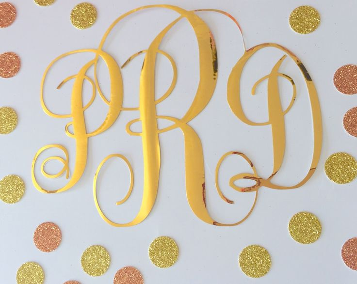 Image of Wordy and monogram wall decals