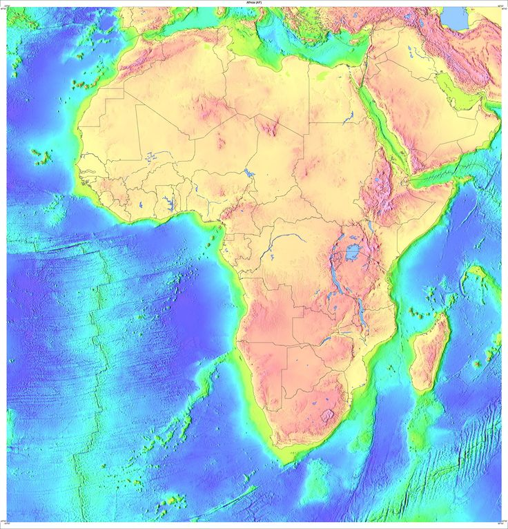 Topology Map of Africa