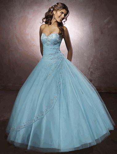 Голубые и синие свадебные платья