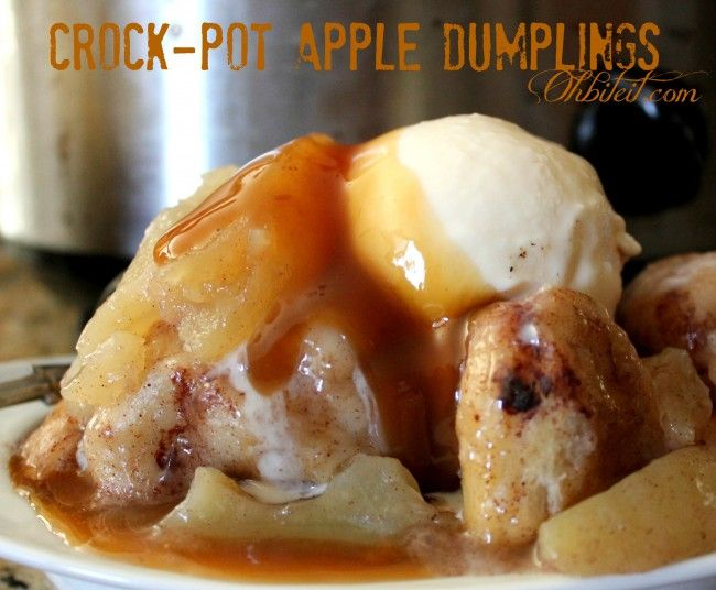 ~Crock-Pot Apple Dumplings!  Made it. Easy. Yummy.