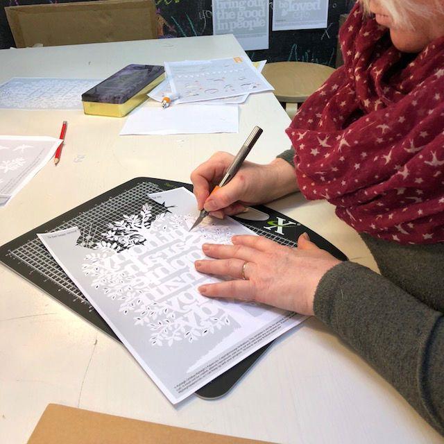 cutting a family tree papercut workshop