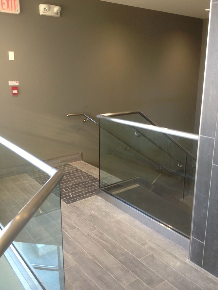 Commercial office space railing.