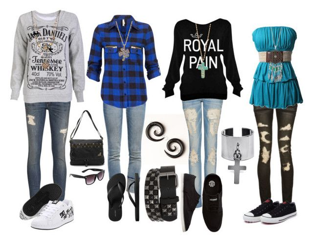 """""""Untitled #642"""" by forever-ur-sickest-hoe ❤ liked on Polyvore featuring MANGO, rag & bone, Almost Famous, Current/Elliott, I Love Leon, Wildfox, Old Navy, DC Shoes, Element and Converse"""