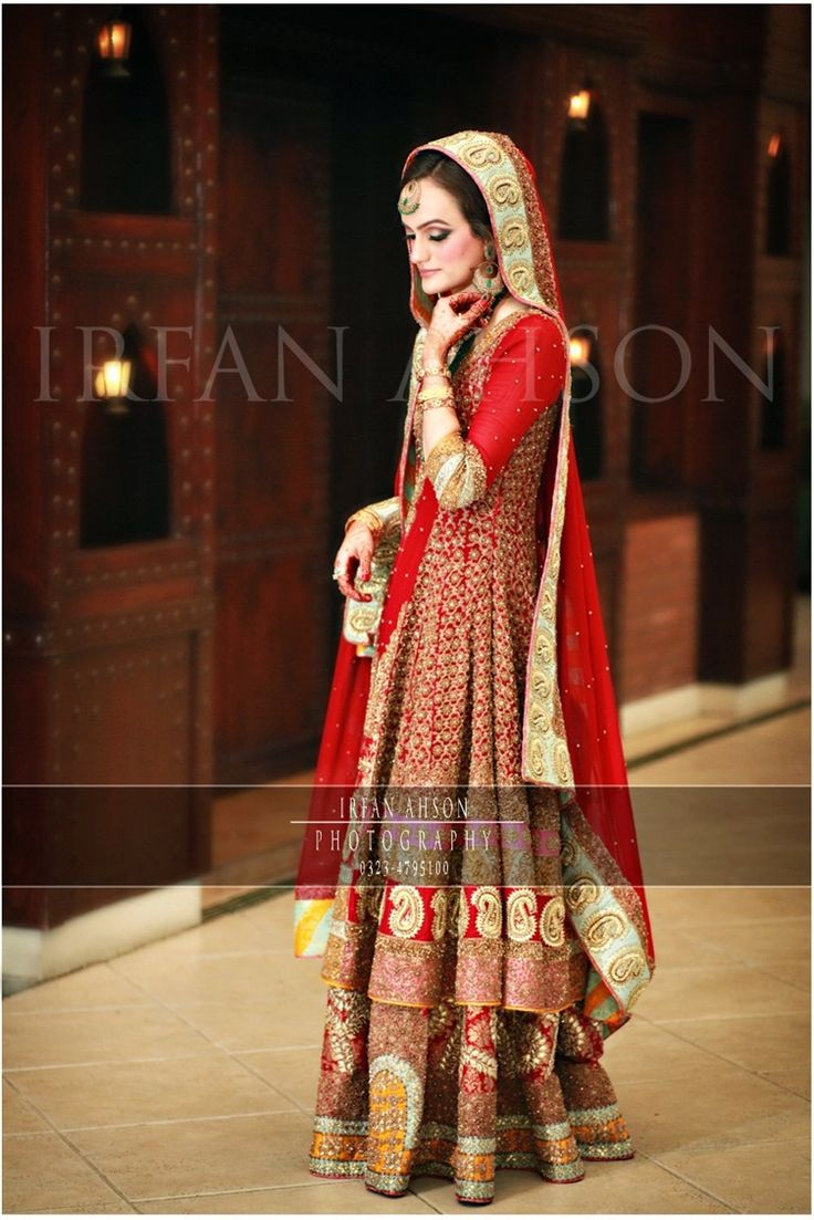 Inspirational Red Bridal Outfit