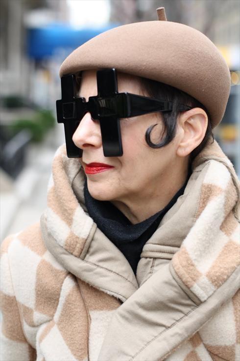 Christina in Jeremy Scott For Linda Farrow Sunglasses