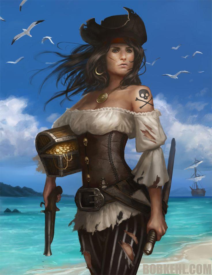 Female pirate art