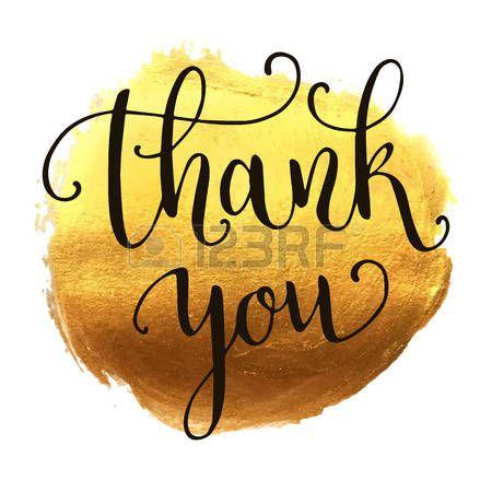 gratitudine: Grazie scritte a mano su spruzzata sfondo dorato