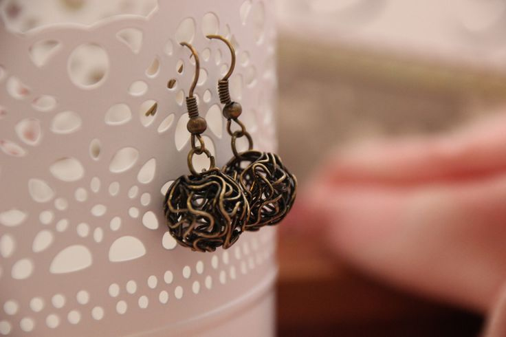Fun Crazy Wire Drop Earrings by 4Dignity on Etsy