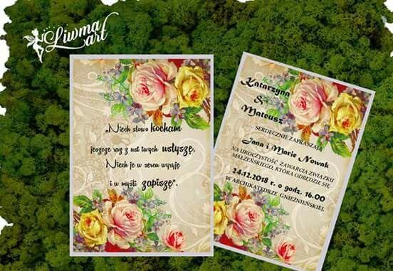 #invitation#wdding#vintage#roses#flowers#kwiaty#róże#kwiatki#zaproszenia#ślubne#idealne_na_wesela www.liwmaart.pl
