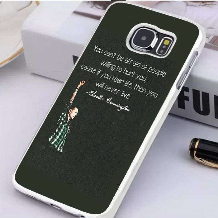 Chester Bennington Quotes Samsung Galaxy S6 Edge Plus Case Dewantary