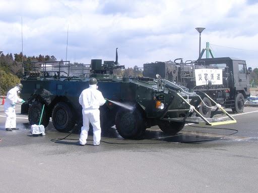 装甲車の除染