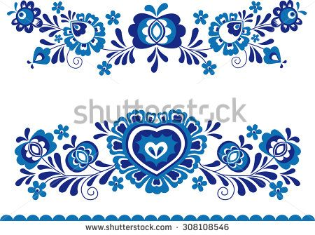 Folk ornaments - stock vector