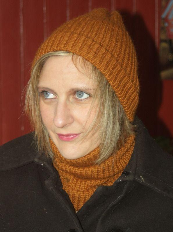 Ensemble tour de cou et bonnet marron écureuil en laine : Echarpe, foulard, cravate par magalie-tissot-creations