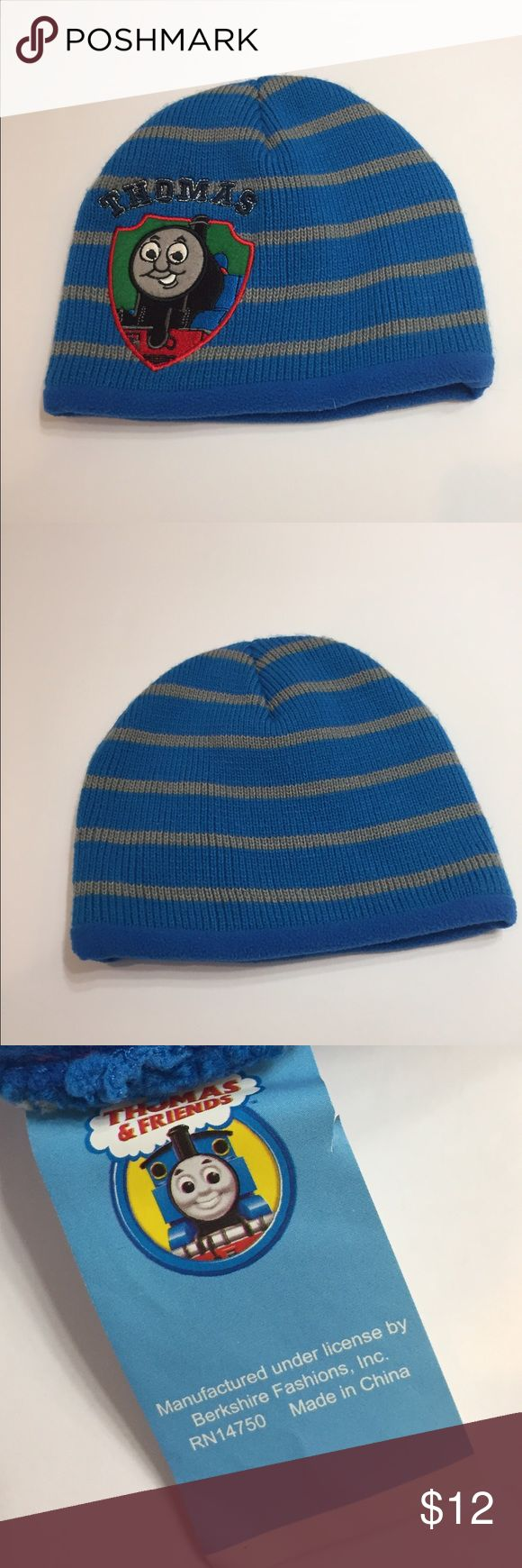 Thomas The Train Knit Hat Cute Thomas the Train Striped hat. Fleece lined inside. One size . Preowned , clean. Check out my closet to save on bundles. Reasonable offers accepted. Thomas & Friends Accessories Hats
