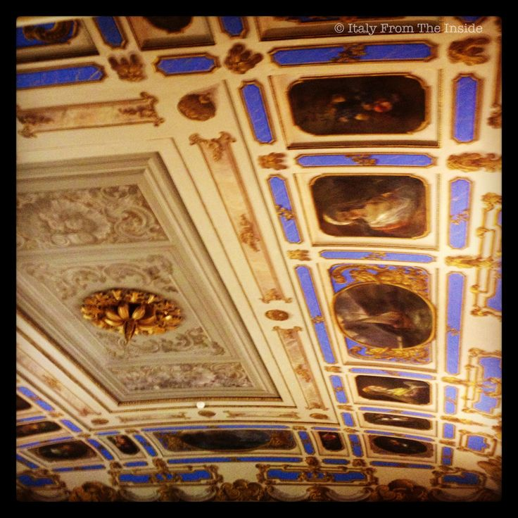 Library ceiling: Biblioteca Statale Trieste - Italy from the Inside