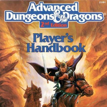 <cite>Advanced Dungeons & Dragons</cite>, 2nd Edition logo andhandbooks