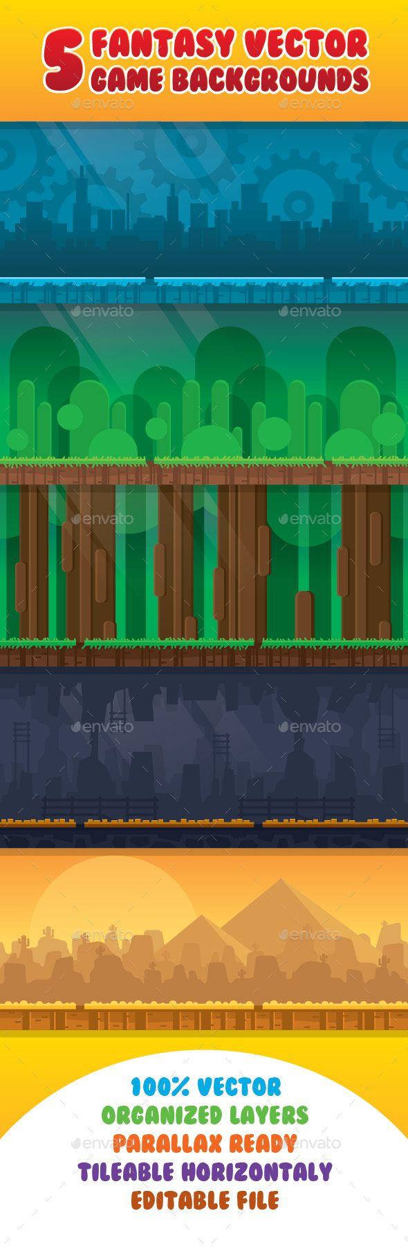 Fantasy Vector Game Background
